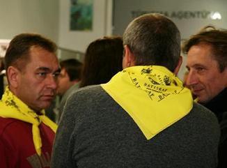 """На открытии магазина """"Батискаф"""" 7 октября 2008 года в Риге"""