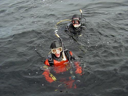 Dry Suit Diver - плавание в сухом гидрокостюме