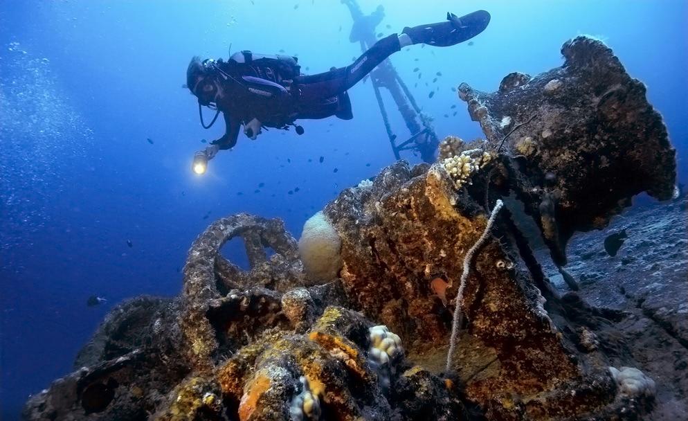 Wreck Diving погружение на затонувшие объекты, обучение дайвингу