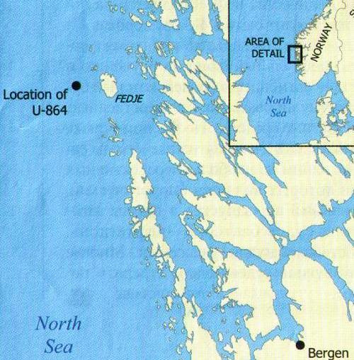 Субмарина погибла совсем недалеко от Бергена, в районе интенсивного рыболовства